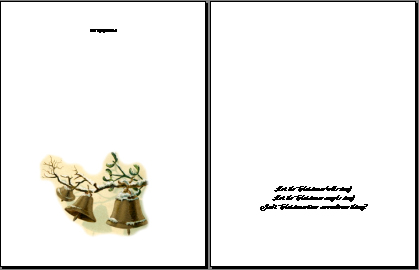 Front and back of printed page.