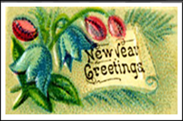 New Year Greetings front